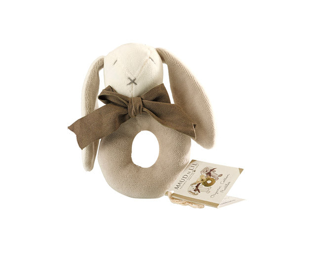 Organic Ears the Donut Rattle – Maud n Lil Organic Cotton Toys