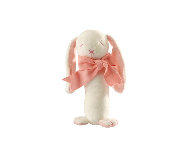 Rose the Bunny Stick Rattle – Maud n Lil Organic Cotton Toys