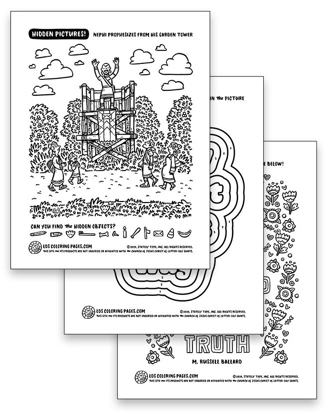 Come Follow Me Week 34 (2020) - Coloring Page Packet