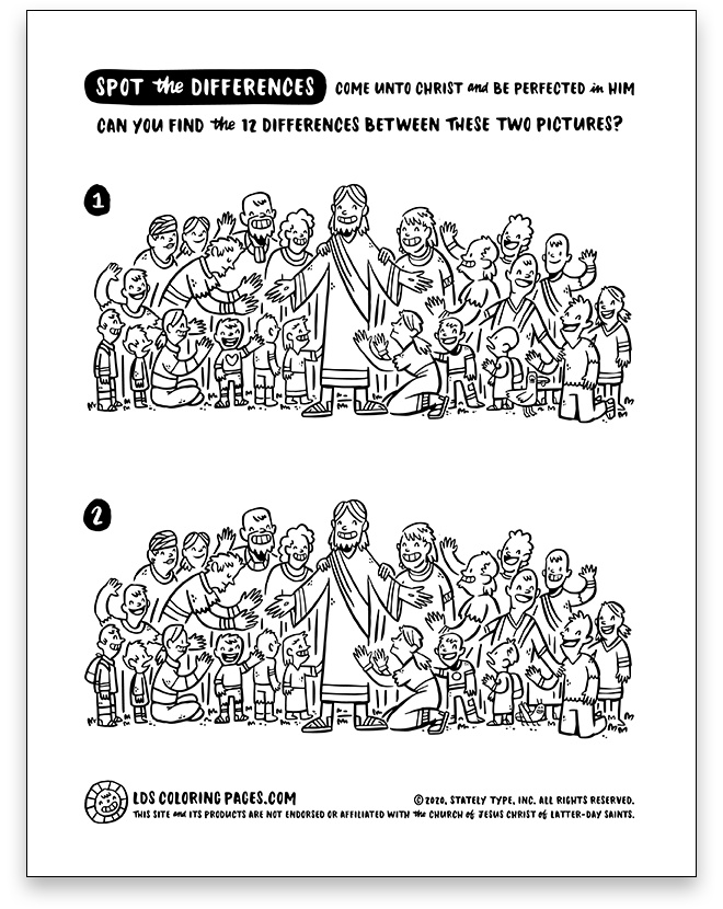 Come Unto Christ - Spot the Differences