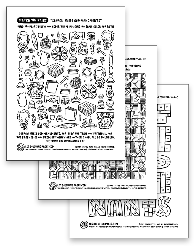Come Follow Me: Week 1 (2021) - Coloring Page Packet