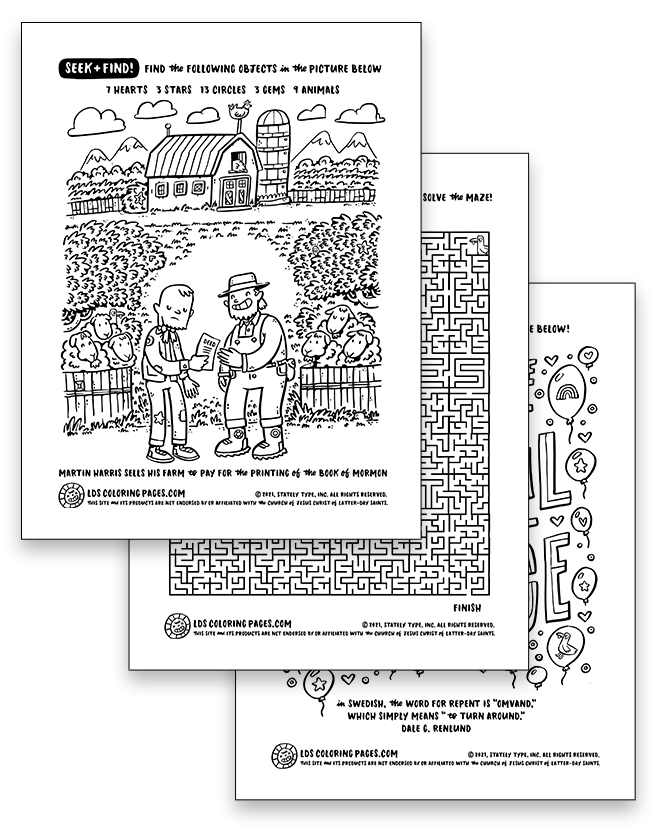 Come Follow Me: Week 9 (2021) - Coloring Page Packet