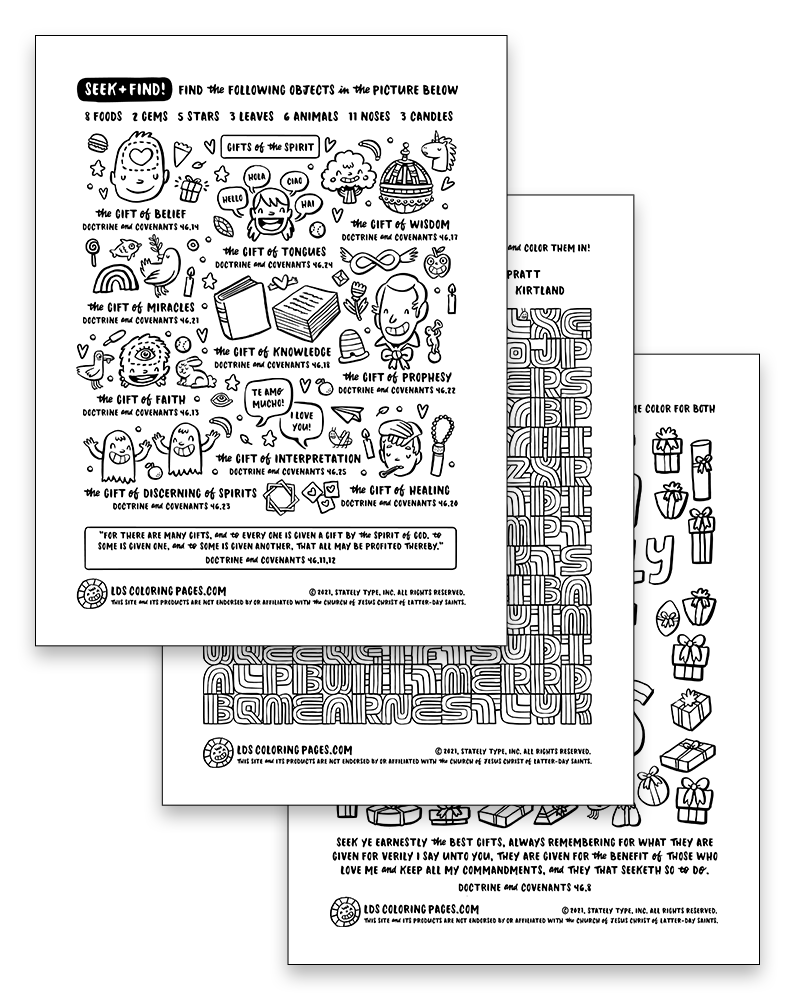 Come Follow Me: Week 19 (2021) - Coloring Page Packet