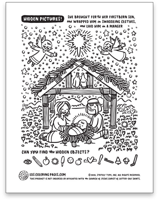 Jesus Christmas Nativity - Hidden Pictures