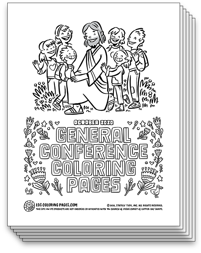 General Conference Coloring Pages - October 2020