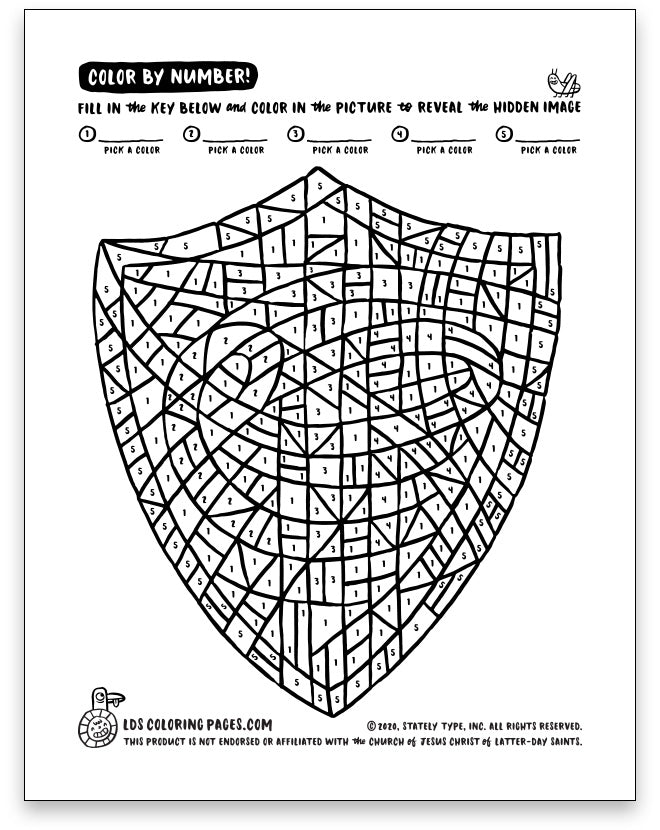 CTR Choose the Right - Color by Number - LDS Coloring Pages