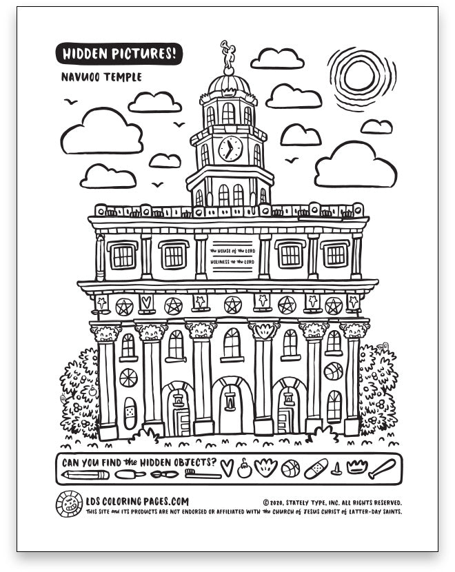 General Conference Coloring Pages - April 2020