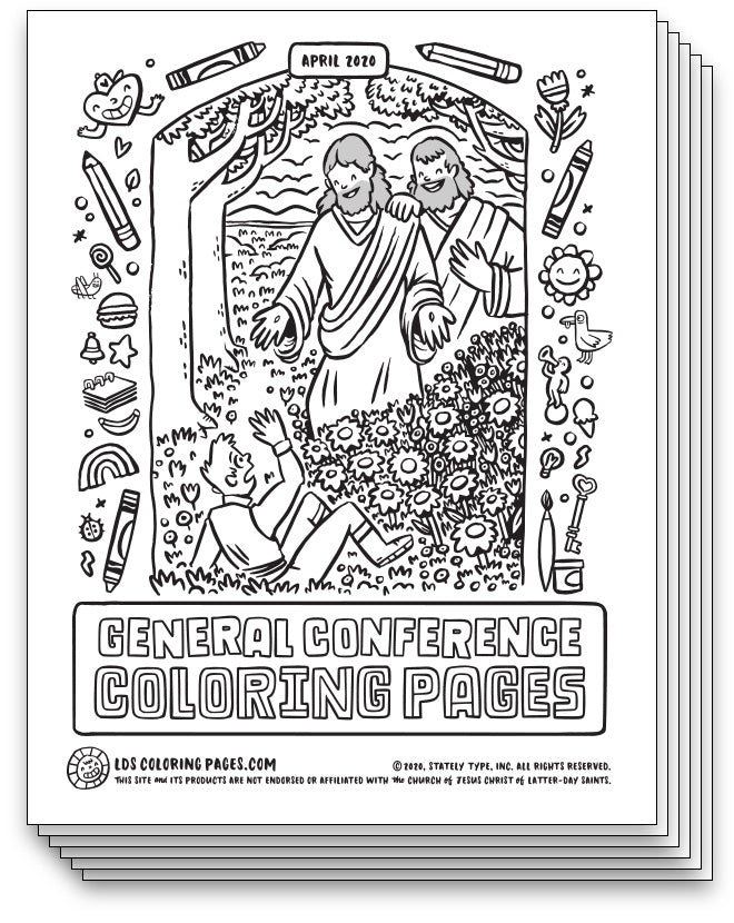 General Conference Coloring Pages - April 2020 - LDS ...