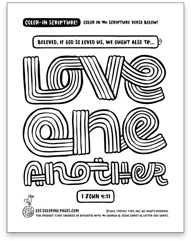 Love One Another - Color-in Scripture