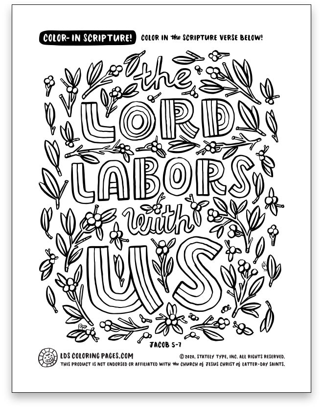 The Lord Labors With Us  - Color-in Scripture