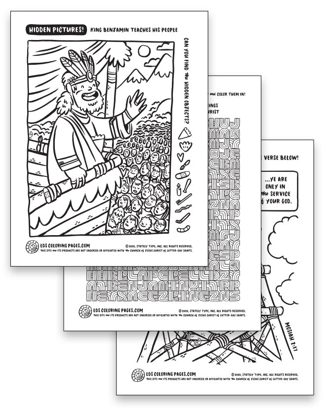 Come Follow Me Week 15 (2020) - Coloring Page Packet