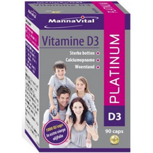 Afbeelding in Gallery-weergave laden, Mannavital Vitamine D3 platinum - 90 caps
