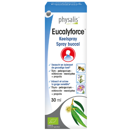Keelspray Physalis Eucalyforce Bio - 30 ml