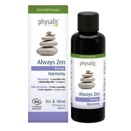 Physalis Massageolie Always Zen - 100ml