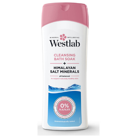 Westlab Cleansing Bath Soak with Pure Himalayan Salt Minerals - 400ml