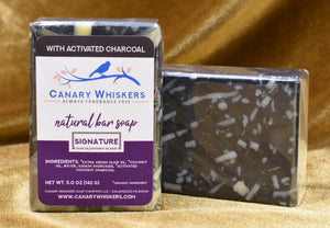 Signature confetti charcoal soap