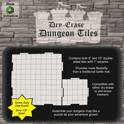 Dungeon Tiles - Combo pack of 5 ten inch & 16 five inch squares