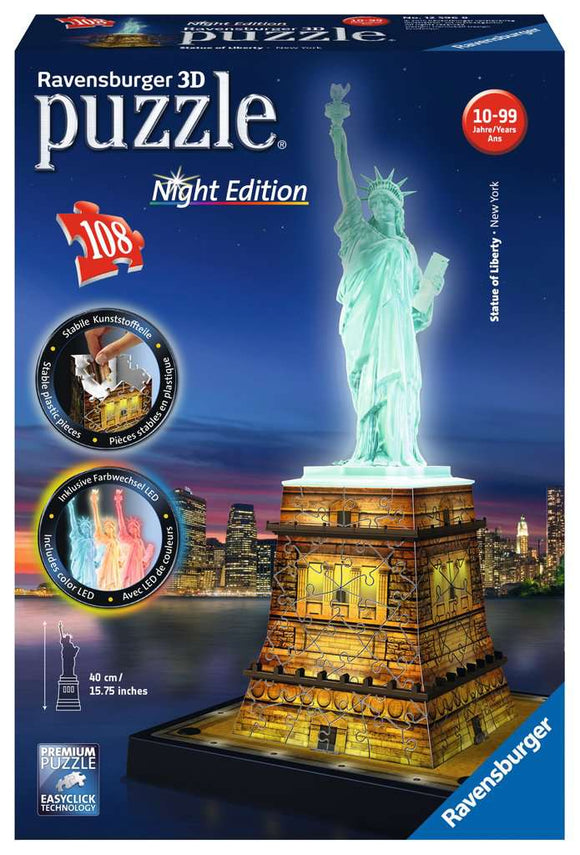 Statue of Liberty - Night Edition (108 pc 3D puzzle)