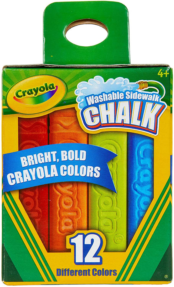 12-ct Washable Sidewalk Chalk