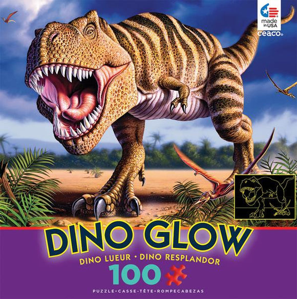 Dino Glow (assorted 100 pc puzzles)