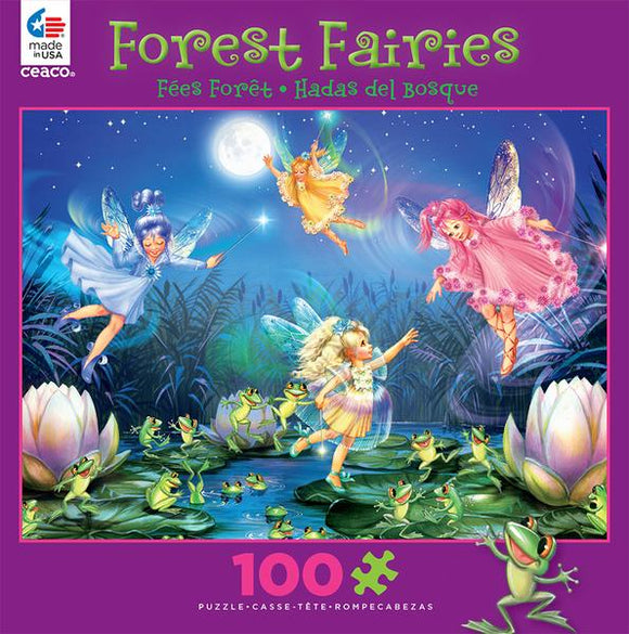 Forest Fairies (assorted 100 pc glitter puzzles)