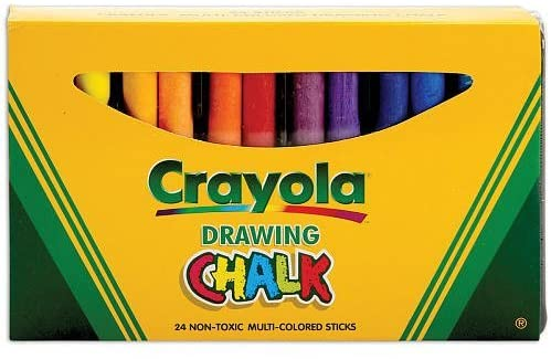24 Stick Colored Art Chalk in Sleeve