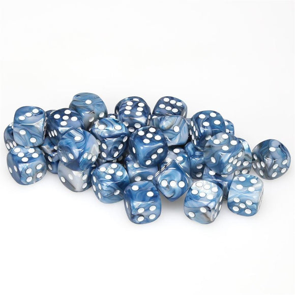 Chessex Lustrous 12mm D6 Dice Block (36-Dice)