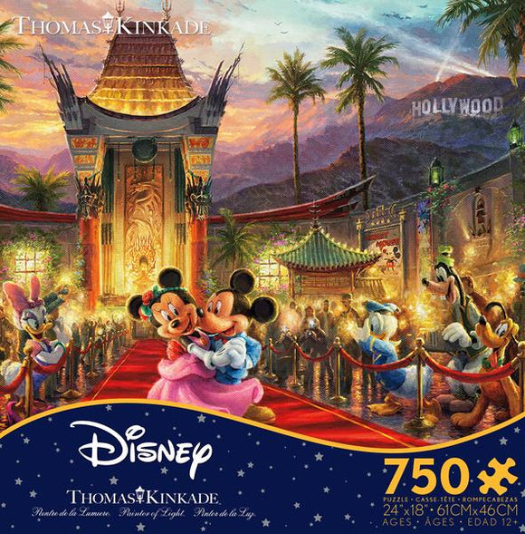 Thomas Kinkade Disney - Mickey and Minnie Hollywood 750 pc Puzzle