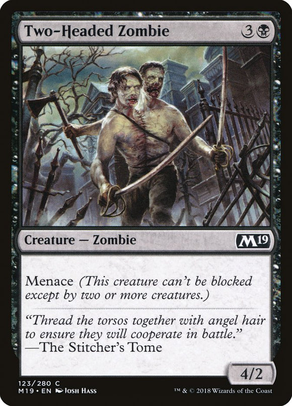 Two-Headed Zombie [Foil] :: M19