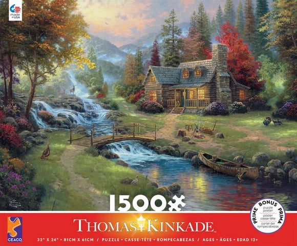 Thomas Kinkade - Mountain Paradise 1500 pc Puzzle