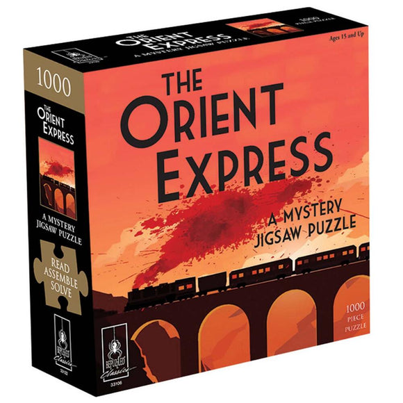 The Orient Express: A Mystery (1000 pc puzzle)