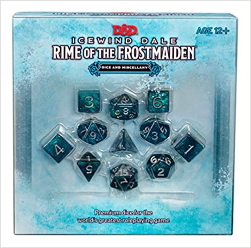 D&D RPG Icewind Dale Rime of the Frostmaiden Dice