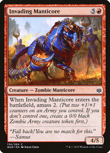 Invading Manticore [Foil] :: WAR