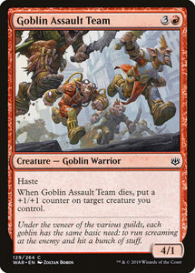 Goblin Assault Team [Foil] :: WAR
