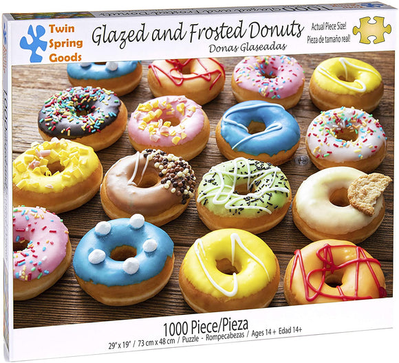 Glazed and Frosted Donuts (1000 pc puzzle)
