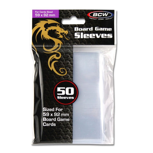 Board Game Sleeves - Standard Euro (59 x 92 mm)