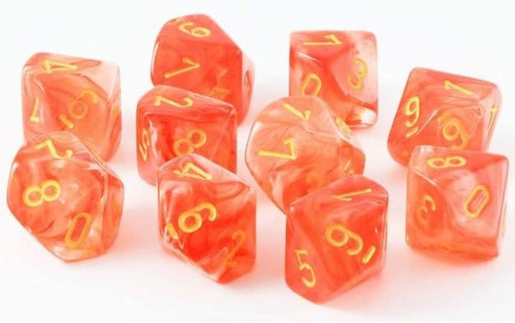 CHX 27323 (Ghostly Glow Orange With Yellow D10 Set)