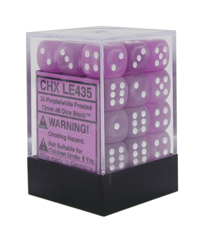 Chessex Frosted 12mm D6 Dice Block (36-Dice)