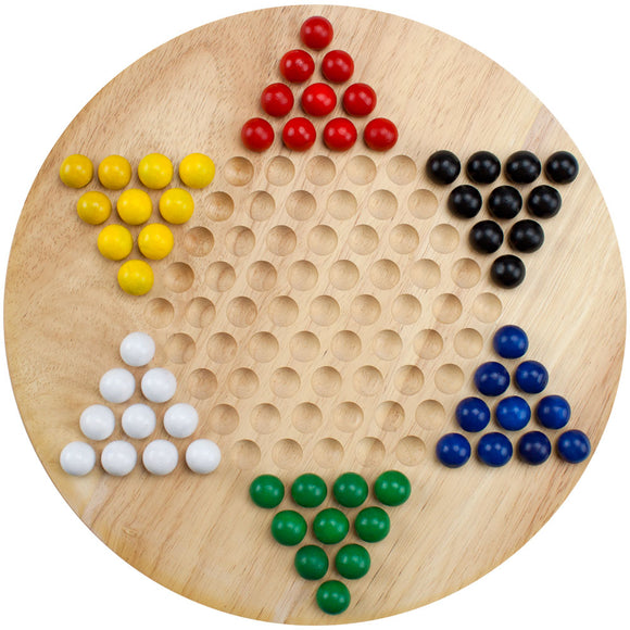 Chinese Checkers (with wooden marbles)