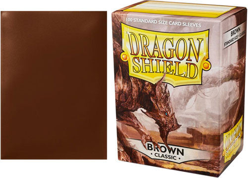 Dragon Shield Deck Protector Classic Brown Standard Size Sleeves 50 Count Pack