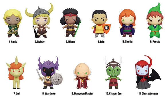 3D Foam Figural Collectible Bag Clip - Dungeons & Dragons Series 2 (Assorted Styles)