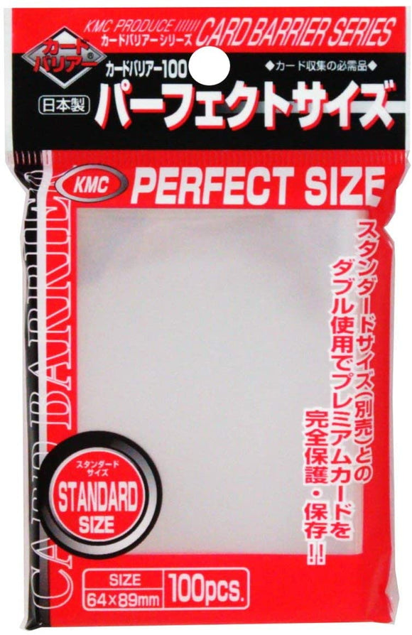 KMC Clear 100ct Perfect Fit Sleeves