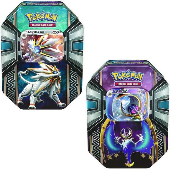 Legends of Alola Tin (Solgaleo GX or Lunala GX)