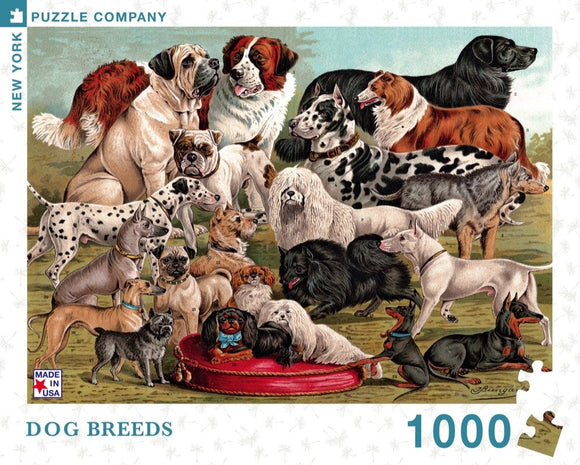 Dog Breeds (1000 pc puzzle)