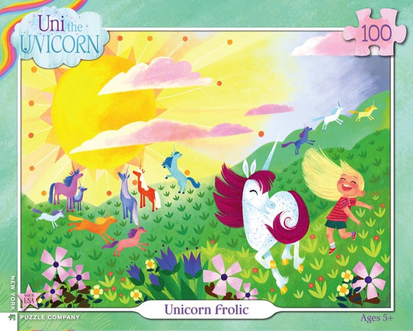 Unicorn Frolic (100 pc puzzle)