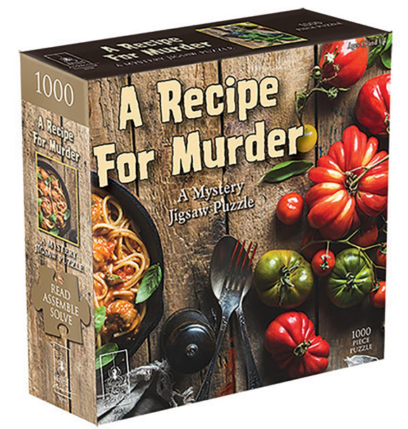 A Recipe For Murder: A Mystery (1000 pc puzzle)
