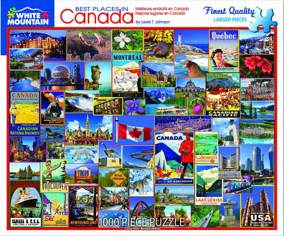 Best Places in Canada (1000 pc puzzle)