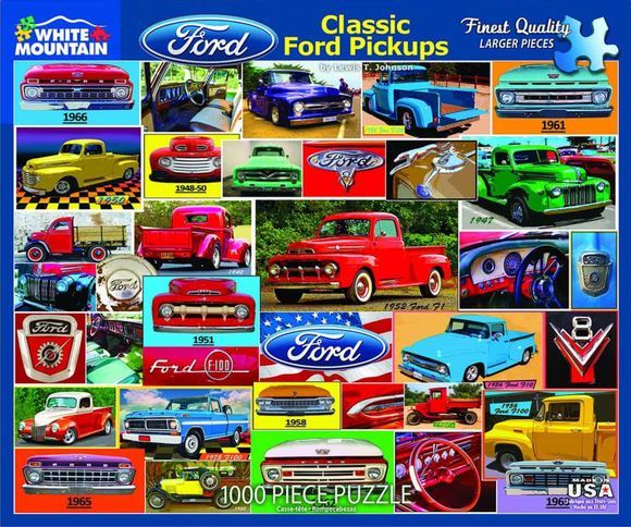 Classic Ford Pickups (1000 pc puzzle)