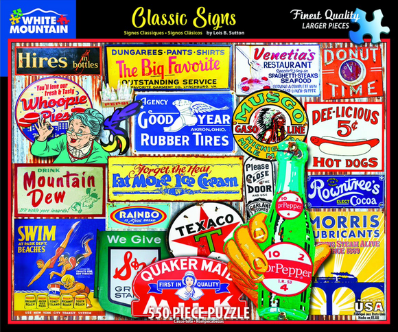 Classic Signs (550 pc puzzle)