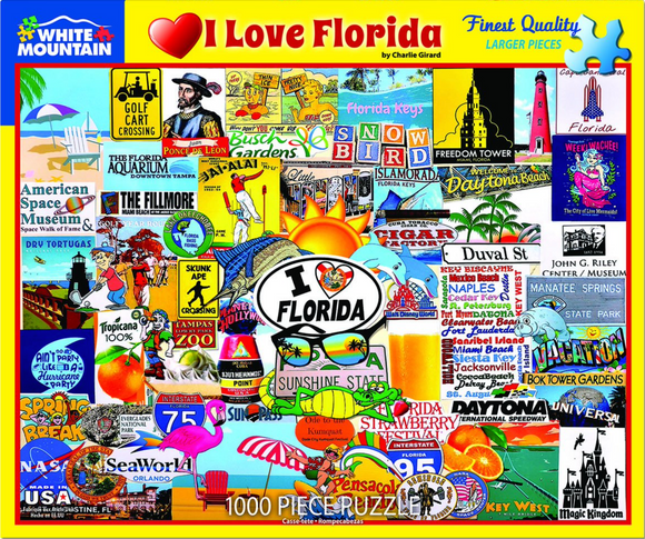 I Love Florida (1000 pc puzzle)